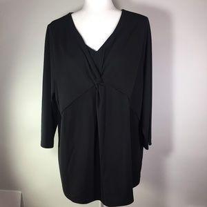 Talbots Black Blouse NWT Size 2X